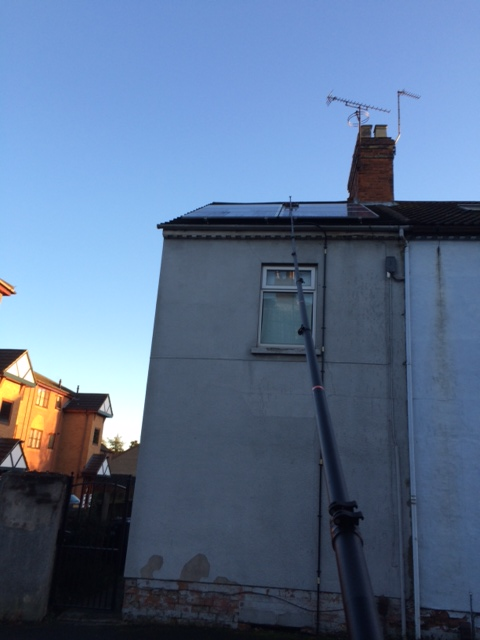 High Reach Solar Cleaning